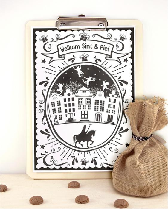 Sint Printable Welkom Poster - Gratis sinterklaas printables van Printcandy