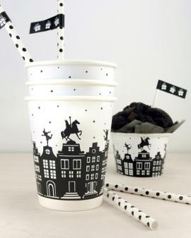 Sint Printable Cup Wrappers - Gratis sinterklaas printables van Printcandy
