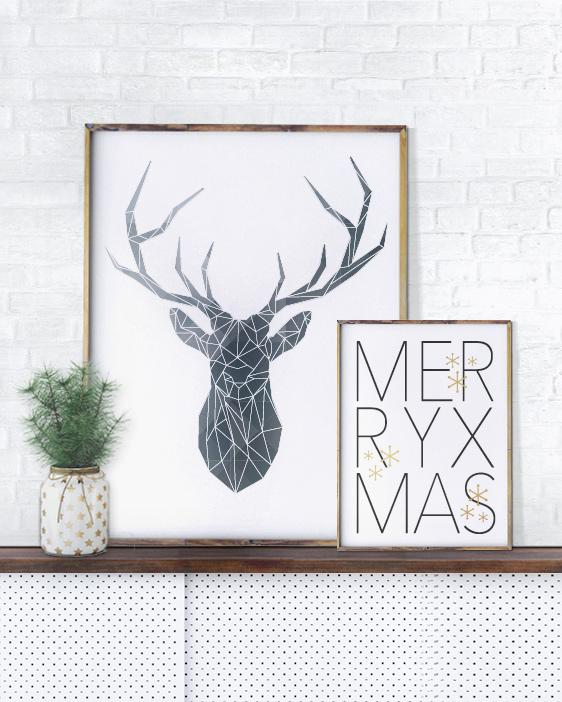 Kerst Poster Minimalistisch Design - Printcandy
