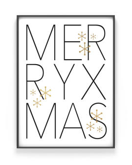 Kerst Poster Merry Christmas - Printcandy