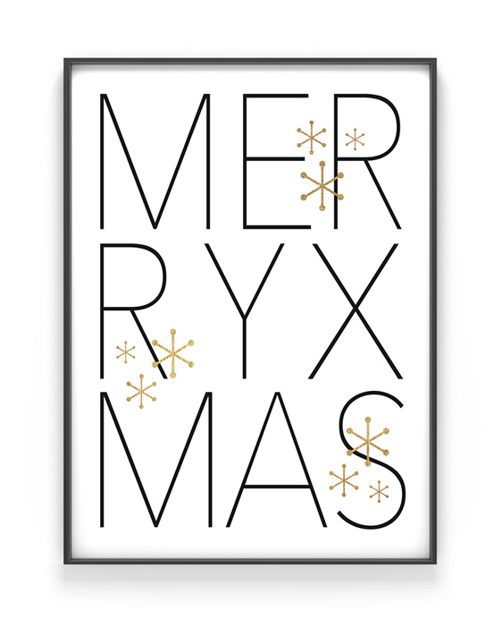 Kerst Poster Merry Christmas - Printcandy