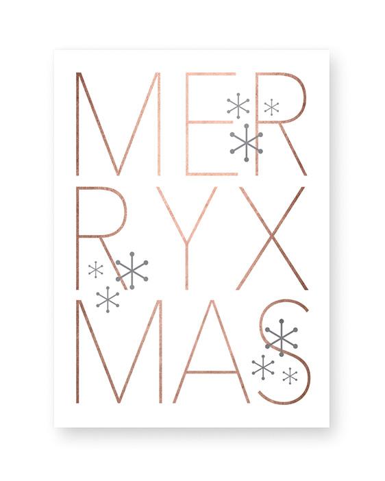 Design Kerst Poster Merry Christmas - Printcandy