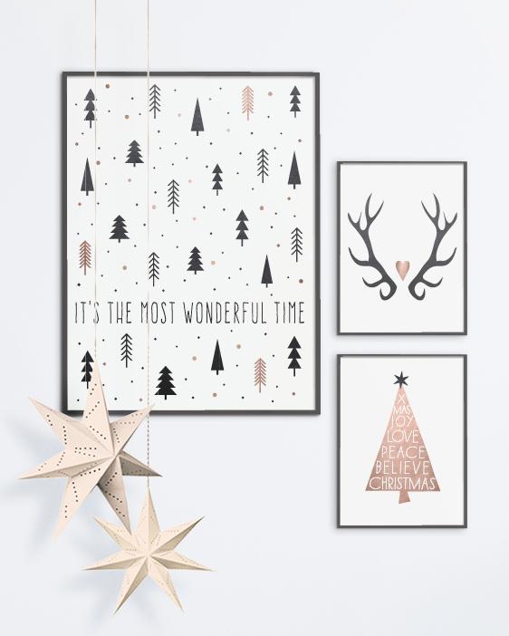 Kerst Poster in Scandinavische stijl - Printcandy