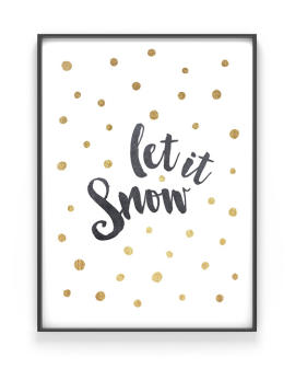 Kerst tekst poster Let it Snow - Printcandy