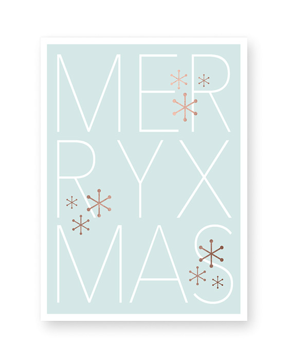 Design Kerst Poster Merry Christmas - Printcandy