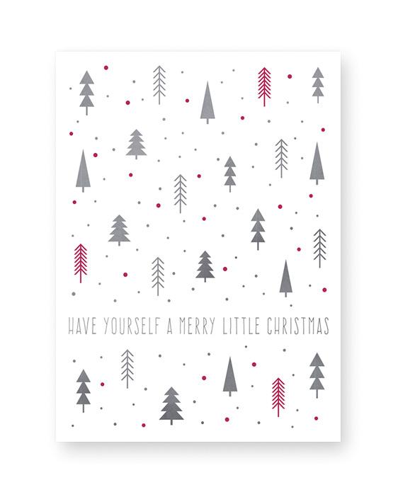 Kerst Poster Dennenbos - Kerst Posters van Printcandy