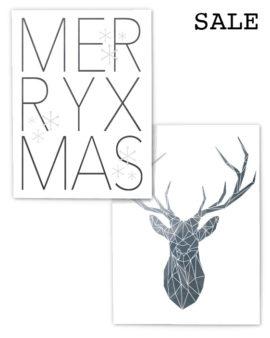 Kerst Poster Set - 2 X Poster met Korting - Printcandy