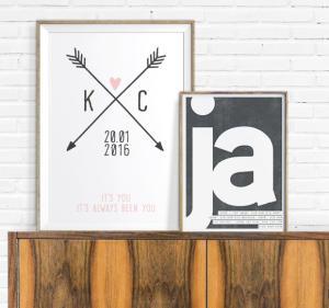 Valentijns Liefde Poster met eigen tekst maken