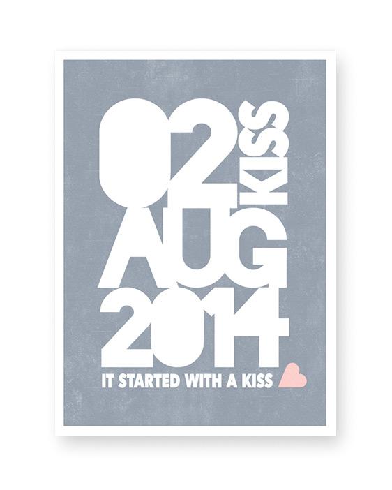 Special Date - Datum Poster met eigen tekst