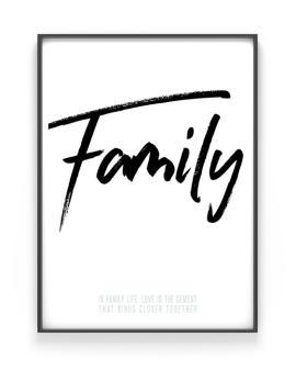 Poster met eigen woord en tekst maken in zwart wit of met kleur - Printcandy