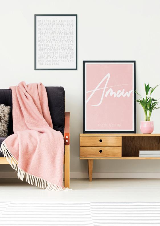 Poster met eigen woord en tekst maken | roze
