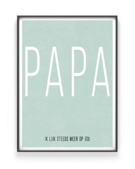 Poster met eigen woord en tekst maken in Mint bij Printcandy