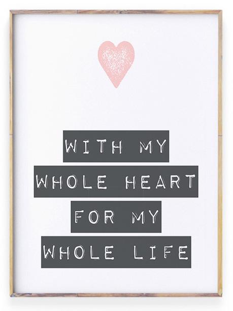 Poster met liefdes tekst en hartje | Personaliseerbaar