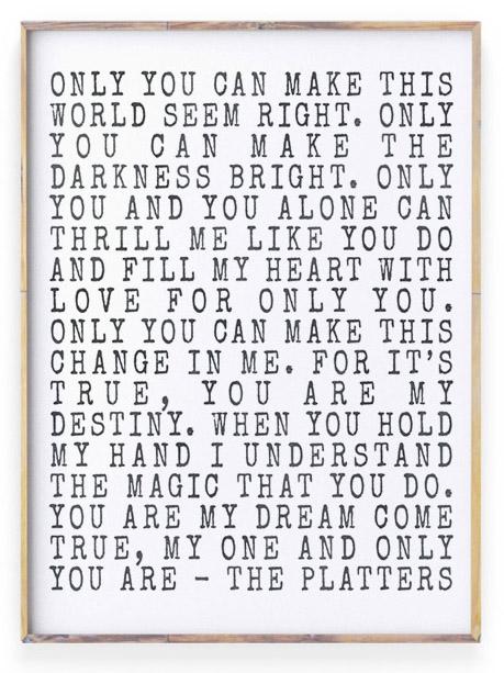 Liefde Poster met eigen tekst maken | Gedicht of Songtext