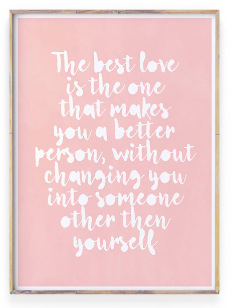 Poster met liefdes tekst | Roze | Love quote voor valentjnsdag