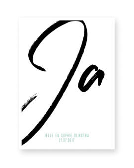 Gepersonaliseerde Trouw poster met Ja woord