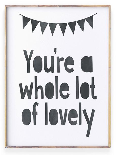 zwart wit Poster met liefdes quote | Lot of lovely | Personaliseerbaar