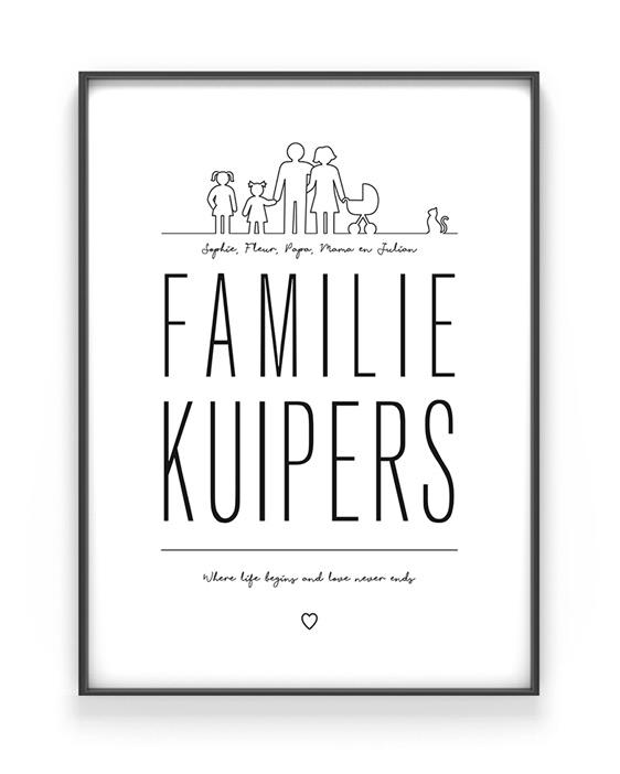 Populair Familie Poster maken met de online poster-editor bij Printcandy @QW49