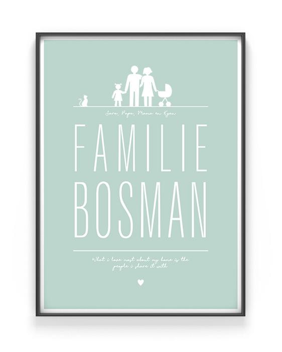 Familie poster maken bij Printcandy - Kleur en zwart wit