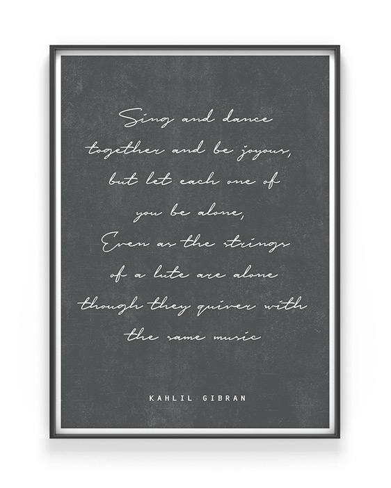 Quote Poster maken met eigen gedicht of tekst bij Printcandy