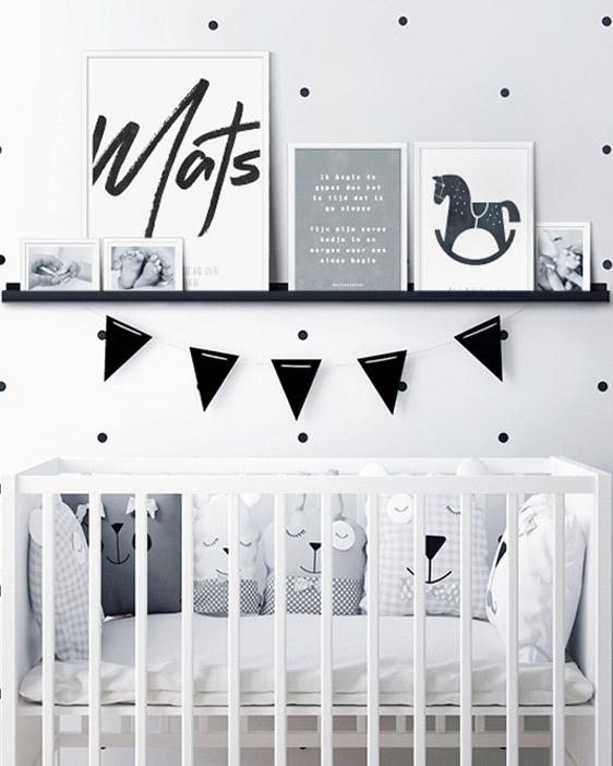 Gepersonaliseerde Tekst Posters | Babykamer | Monochroom | Printcandy