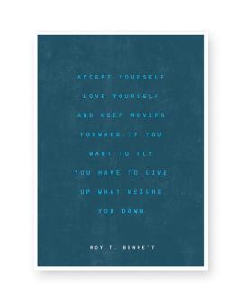 Quote Poster maken met gekleurde achtergrond in donker blauw