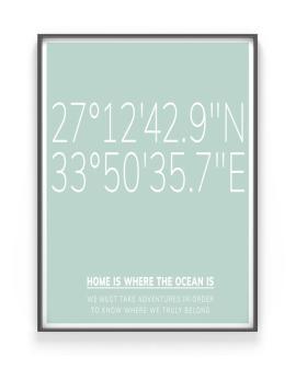 Gepersonaliseerde Poster met Coördinaten zelf maken bij Printcandy