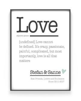 Poster Woordenboek - Woord Definitie Poster met eigen tekst - Printcandy