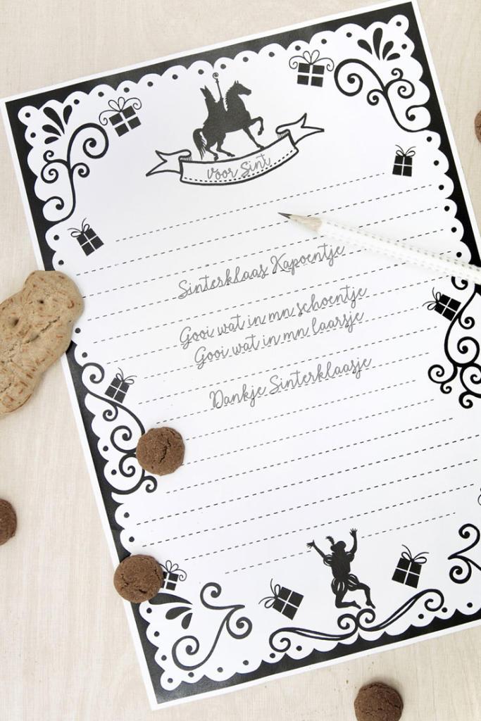 Gratis Sinterklaas Printables   Briefpapier   Printcandy