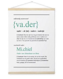 Woordenboek Canvas Poster | Gepersonaliseerde Textielposter | Printcandy