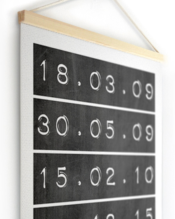 Textielposter | Gepersonaliseerde Data Canvas Poster | Printcandy