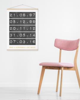 Canvas Poster met speciale Datum | Gepersonaliseerde Textielposter | Printcandy