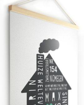 Textielposter | Gepersonaliseerde Family Home Canvas Poster | Printcandy