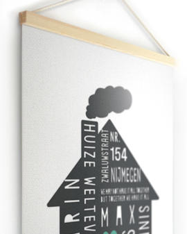 Textielposter | Gepersonaliseerde Family Home Canvas Poster | Printcandy
