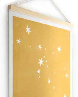 Textielposter | Gepersonaliseerde Sterrenhemel Canvas Poster | Printcandy