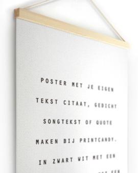 Textielposter met eigen Tekst Canvas Poster maken | Printcandy