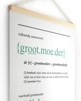 Textielposter | Gepersonaliseerde Woordenboek Canvas Poster | Printcandy