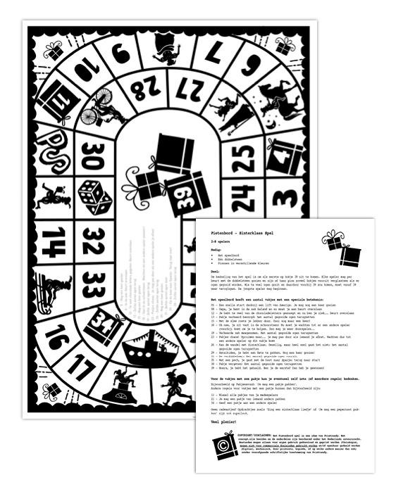 Sint en Piet Cadeau spel | Spelletje Pakjesavond | Sinterklaas 2019 Printables | Printcandy