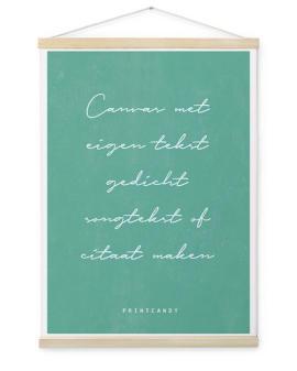 Tekst Canvas Poster | Textielposter met eigen tekst maken | Printcandy