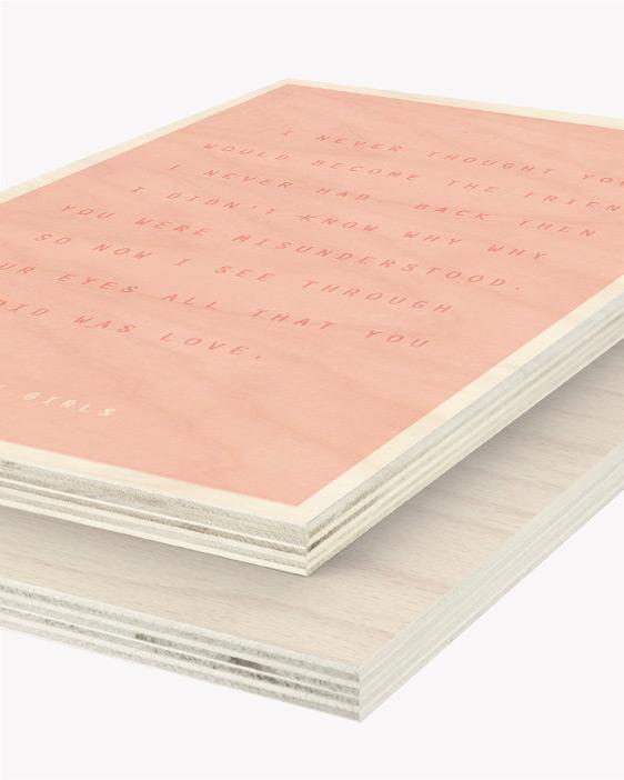 Hout Poster | Gepersonaliseerde Tekst Houtprint | Printcandy