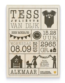 Hout Poster