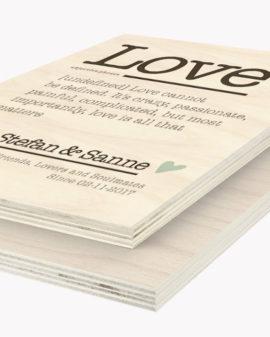 Hout Poster | Gepersonaliseerde Woord Houtprint | Printcandy