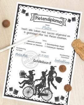 Gratis Printable pietendiploma   Gratis Sinterklaas Printables   Printcandy