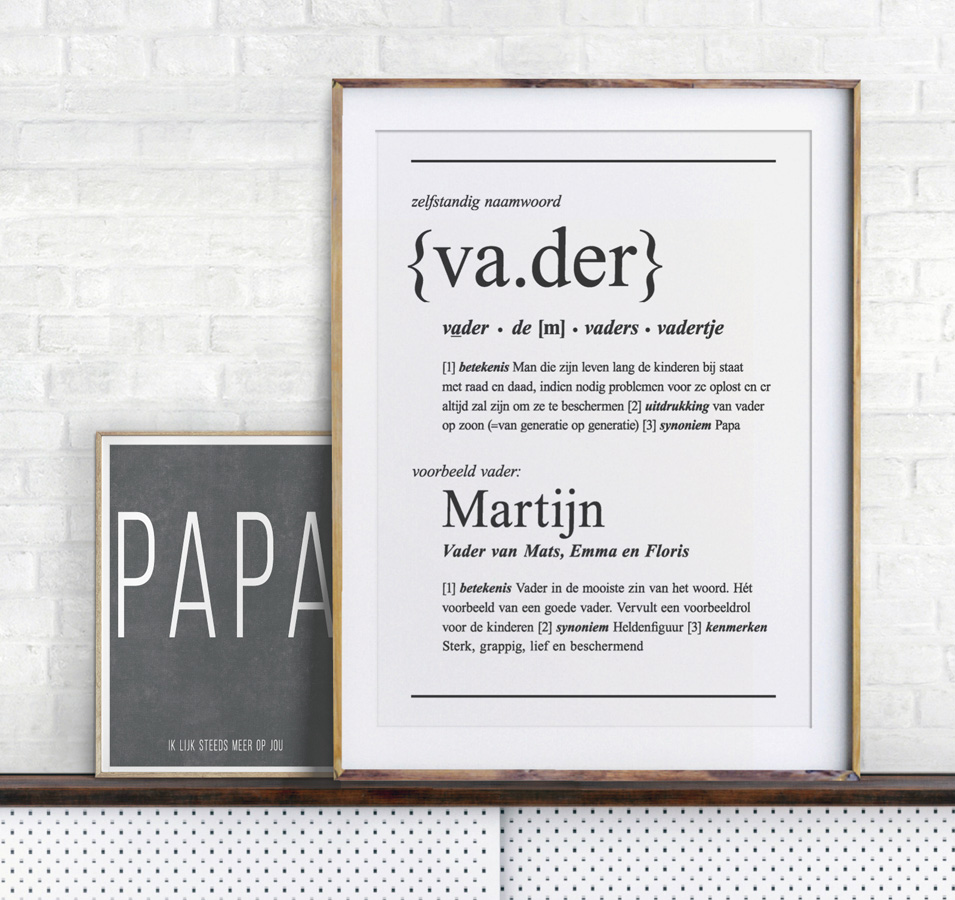 Zelf posters maken voor Vaderdag bij Printcandy